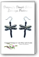 Dragonfly Dangle Earring Silver