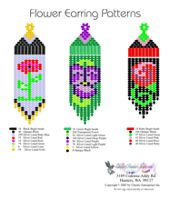 Beaded Rose Fringe Earrings Bead Graph