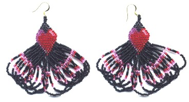 Heart Sweep Earring Pattern and Kit