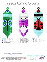 Insects Fringe Earrings Bead Graph