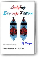 Ladybug Fringe Earrings