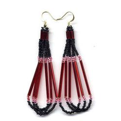 Red Loop Earrings