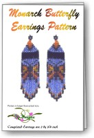 Monarch Butterfly Fringe Earring