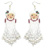 Mrs. Claus Dangle Earring