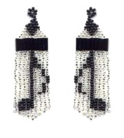 Beaded Musical Notes Fringe Earring