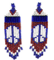 Beaded Peace Fringe Earring