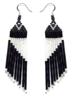 Black Slant Earrings