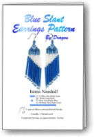 Blue Slant Earrings