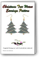 Christmas Tree Weave Earring