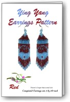 Yin Yang Red Fringe Earring