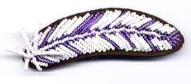 Feather on Leather Barrette Purple Kit Only