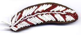 Feather on Leather Barrette Red Kit Only