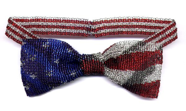 Flag Bow Tie Necklace