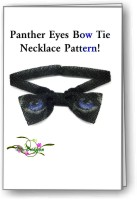 Panther Eyes Bow Tie Necklace