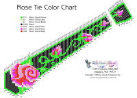 Rose Tie Necklace Pattern and Kit