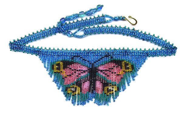 Dainty Butterfly Fringe Necklace