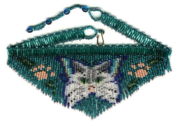Cat Butterfly Fringe Necklace
