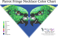 Pete's Parrot Fringe Necklace