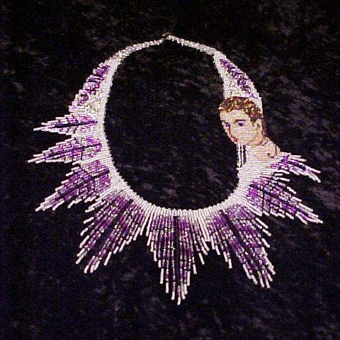 Lady Wing Weave Fringe Necklace