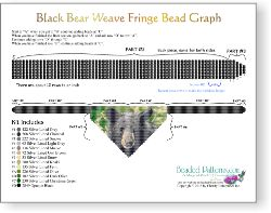 Black Bear Weave Fringe Necklace