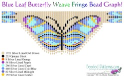 Blue Leaf Butterfly Weave Fringe Necklace