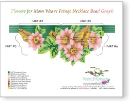 Flowers For Mom Weave Fringe Necklace