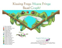 Kissing Frogs Weave Fringe Necklace