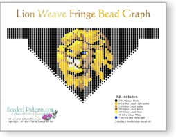 Lion Weave Fringe Necklace