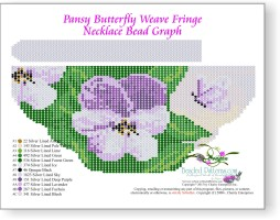 Pansy Butterfly Weave Fringe Necklace
