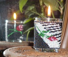 Piano Rose Candle Holder