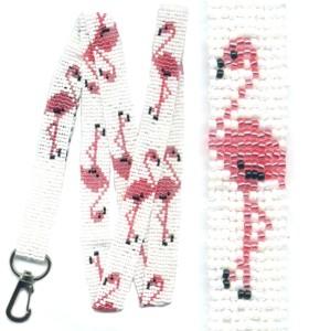 Flamingo Lanyard Beading Patterns And Kits By Dragon
