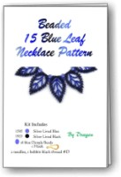 15 Blue Leaf Russian Necklace - Click Image to Close