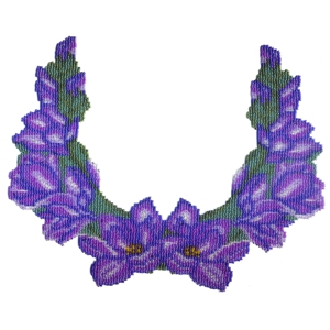 Purple Flowers Weave Necklace