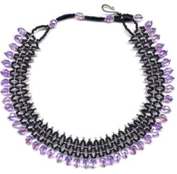 Light Purple Accordion Choker