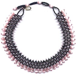 Pink Optical Accordion Choker