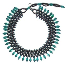 Teal Accordion Choker