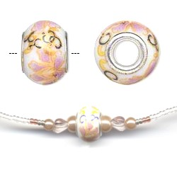 Ceramic Bead Necklace Peach
