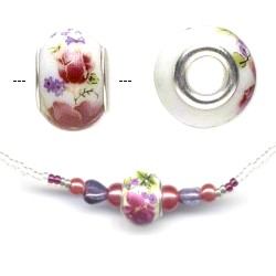 Ceramic Bead Necklace Red