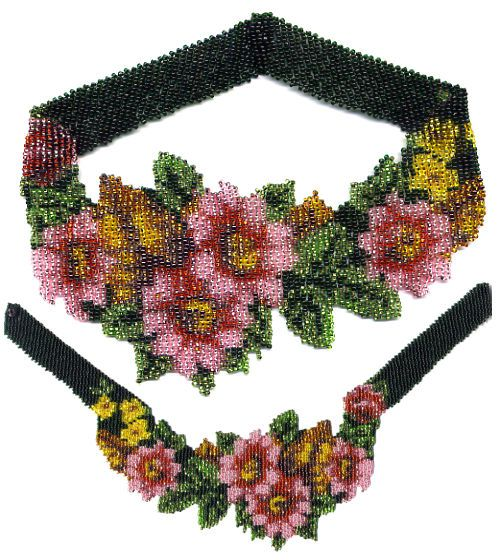 Flowers For Mom Weave Necklace Pattern and Kit