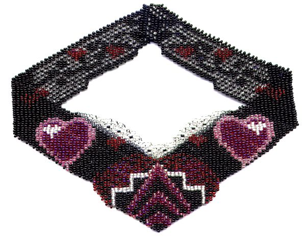 Hearts Weave Necklace Pattern and Kit