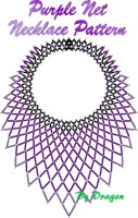 Purple Net Necklace