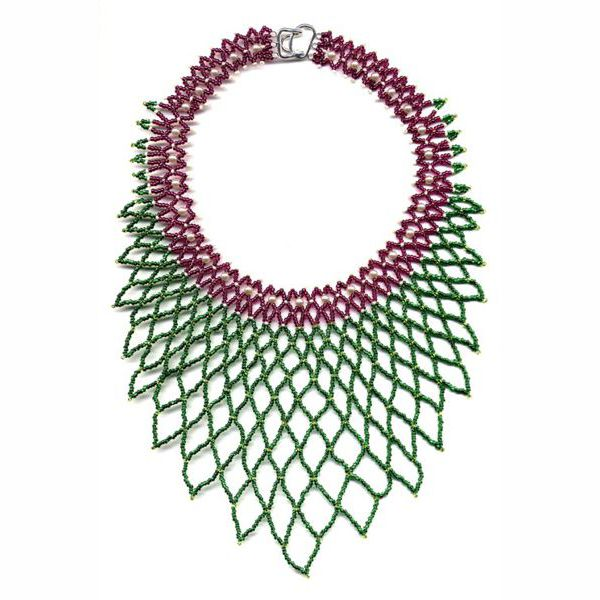Raspberry Net Necklace