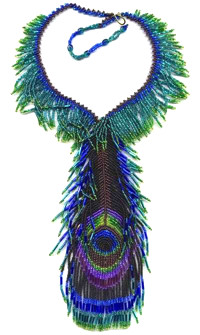 Peacock Feather Necklace Pattern And Kit
