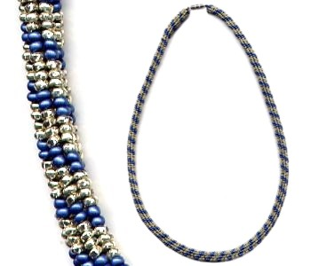 Herringbone Rope Necklace - Click Image to Close