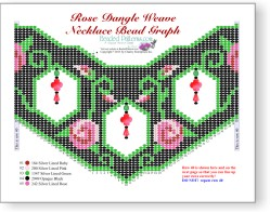Rose Dangle Weave Necklace
