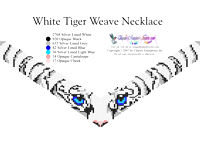 White Tiger Eyes Weave Necklace