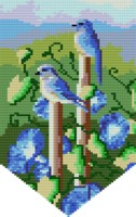 Blue Birds Tapestry
