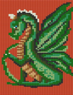 Cute Dragon in Red Tapestry