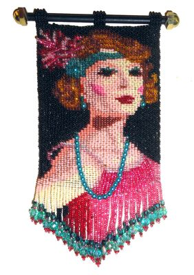 Flapper Girl Tapestry