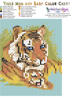 Tiger Mom and Baby Tapestry